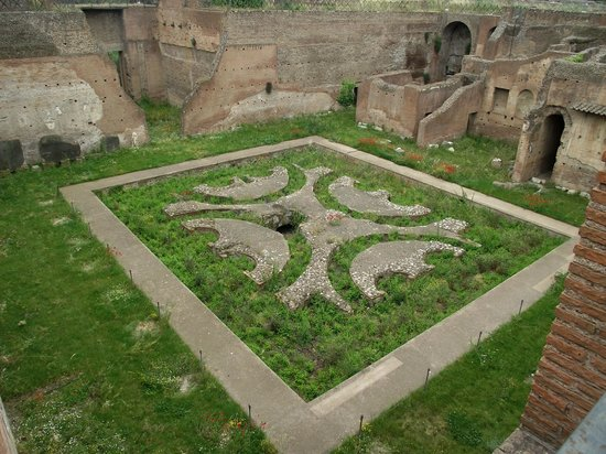 Monte Palatino: Jardim no interior do Palácio de Augusto