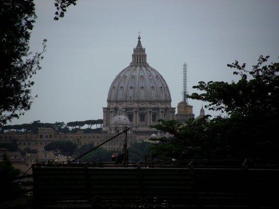 Monte Palatino: Vista da Cúpula da Basílica de São Pedro
