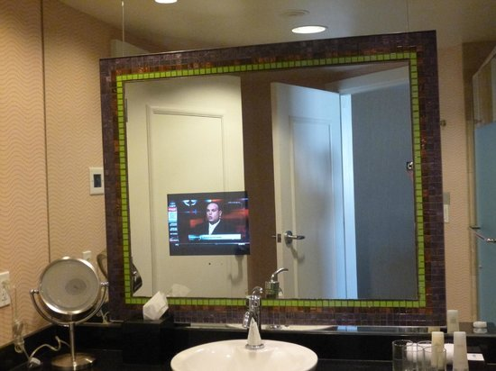 Caesars Palace: The bathroom in-mirror TV