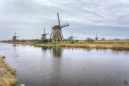 Boottocht Rotterdam - Kinderdijk: Мельницы Киндердейка
