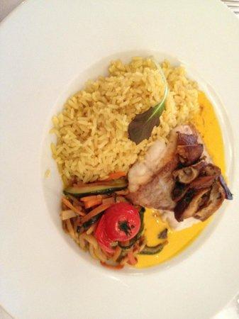 Hämmerles Restaurant: Seelachs mit Gemüse Chinois und Reis