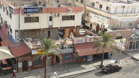 Mina Hotel : udsigt fra hotelværelse