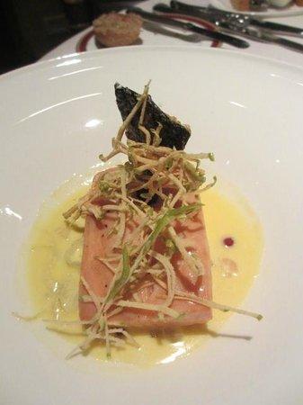 Restaurante Grano de Oro: salmon a la vainilla