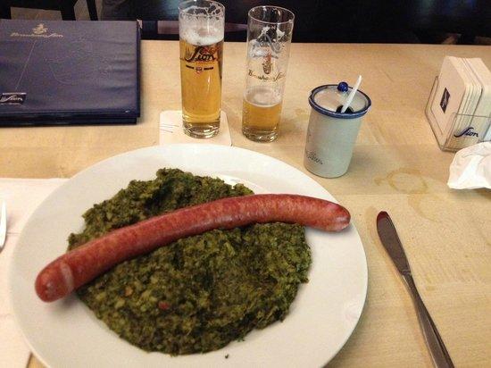 Brauhaus Sion: A long skinny wiener.