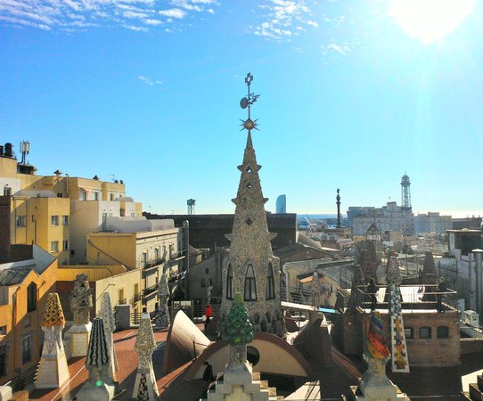 Hotel Gaudi: Vista dal terrazzo aperto agli ospiti.