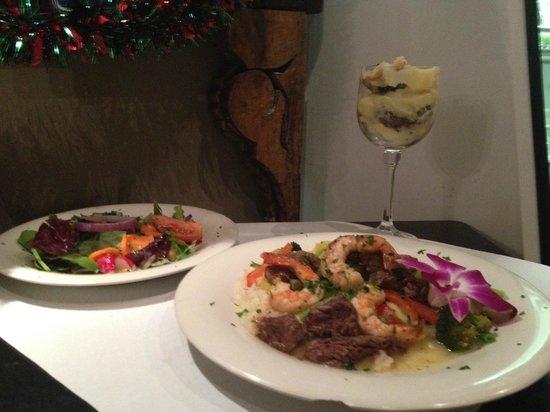 Basila's Catering (Garlicky Sorlion and Shrimp)