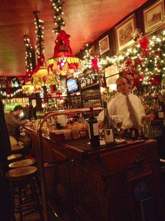 Martin's Tavern: The bar at holiday time
