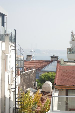 Divalis Hotel: Spot the Bosphorus (from roof terrace)