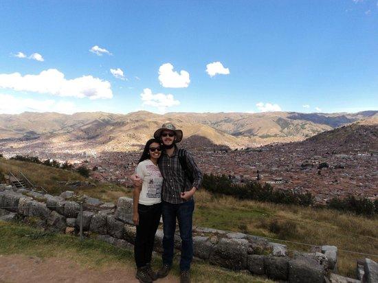 Sacsayhuamán: vista de Cusco