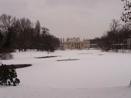 Łazienki-Park (Park der Bäder): palazzo sull'acqua