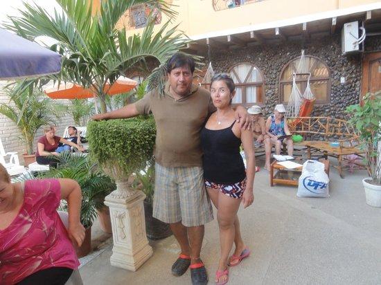 Piedra del Mar Hotel Boutique: Con Santiago, que nos trató muy bien
