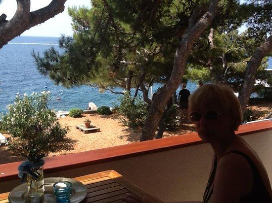 Villa pod borom: Blick auf die Adria