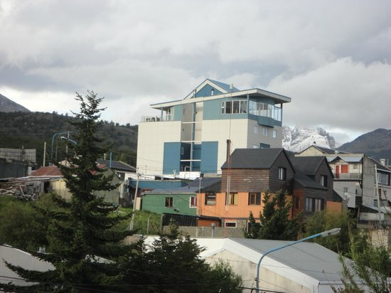 Alto Andino: Hotel sight from a nearby restaurant corner