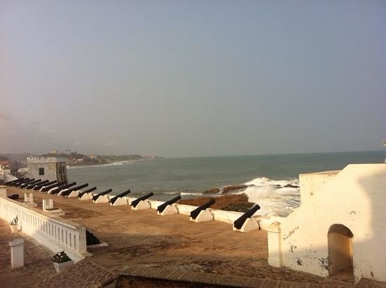 view of the coast from cape coast castle