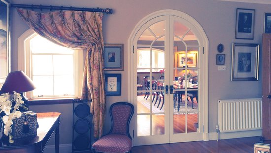 Melfort House: The Drawing Room,  looking through to the Dining Room