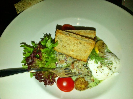 Von Krahli Aed: Fish tartar or something like this, and seed's bread, so tasty