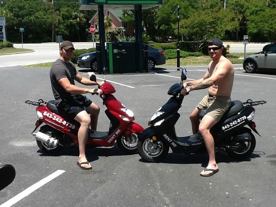 Port City Moped: Serving our country, but enjoying some R & R. Thank you for your service!