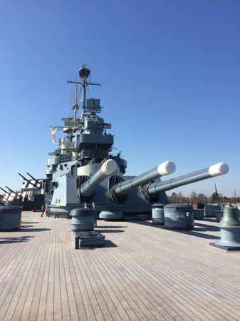 Battleship NORTH CAROLINA: on the deck