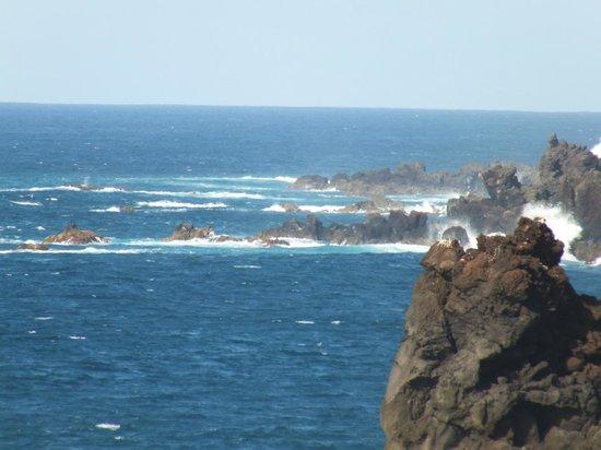 Los Hervideros-panorama wybrzeża