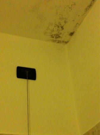 Hotel Excelsior: Muffa e umidità proprio sulla doccia