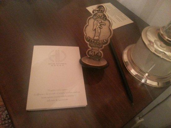 Hotel Vittoria : clès de ma chambre
