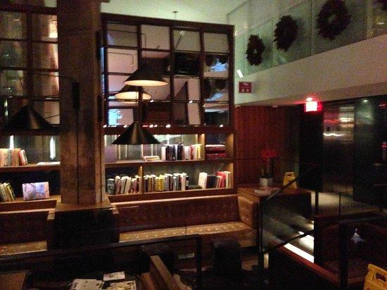 The Nolitan Hotel: reception/library area