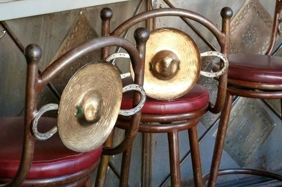 Tucson Food Tours: decorative chairs that look like sombreos
