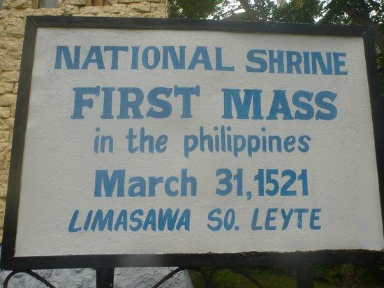 Limasawa Island: First Mass sign