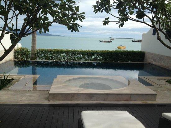 Anantara Bophut Koh Samui Resort: View from beach villa