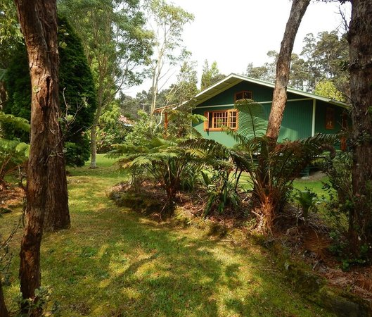 Volcano Hideaways: Looking at the house from the garden. . .
