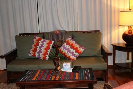 Hamanasi Adventure and Dive Resort : Nice couch we rarely used it