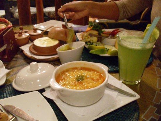 El Indio Feliz Restaurant Bistro: Sopa de tomate