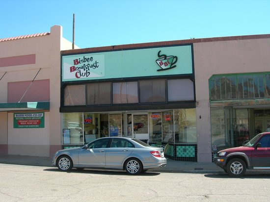 Bisbee Breakfast Club: BBC located in the Lowell District, on Erie Street, Bisbee, AZ