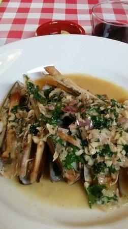 La Croix Du Sud restaurant : Fricassé de couteaux échalotes (31/01/2013)