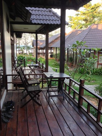 Arcadia Phu Quoc Resort: The deck of our room