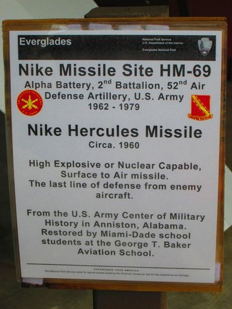 Homestead, Φλόριντα: Explanation of HM-69 Nike Hercules Missile