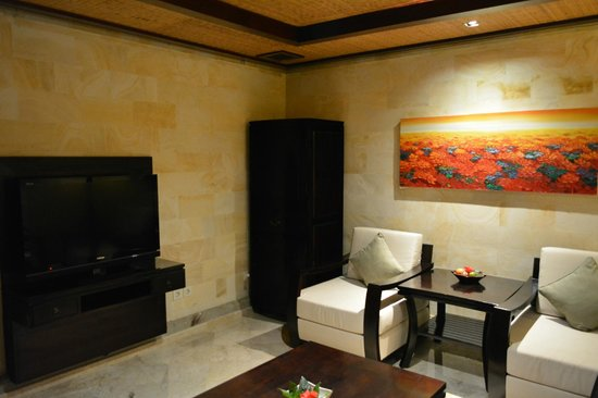 The Royal Pita Maha: lounge area of your villa