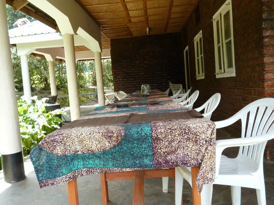 Amajambere Iwacu Community Camp: The Veranda overlooking Kisoro town