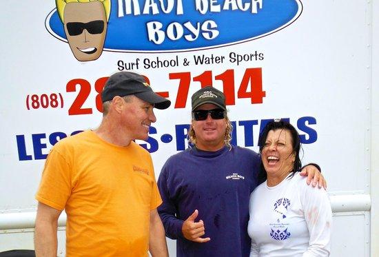 Maui Beach Boys: Karlos, my wife and I @ MBB