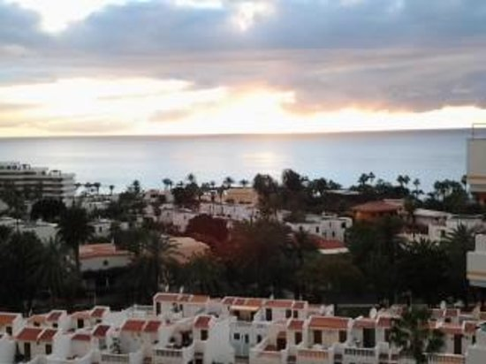 Aparthotel Club Bonanza: solnedgång från balkong våning 8