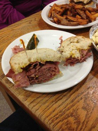 La Belle Patate: Montreal Smoked Sandwich.