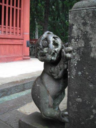 Iwakiyama Shrine: 上向きもいるよ