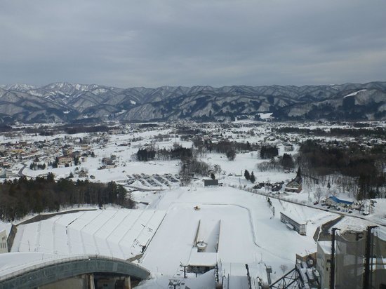 Hakuba Jump Arena: View from the top of the big jump
