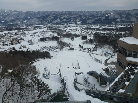 Hakuba Jump Arena: View down the big jump