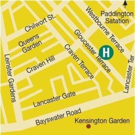 The Paddington Hotel: Map