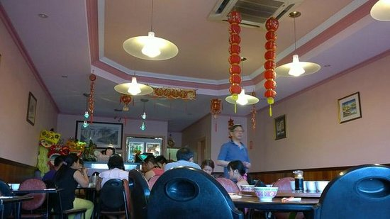 Jade Kingdom Chinese & Malaysian Restaurant B.Y.O. & Fast Food & Take Away: The interior with Chinese New Year decorations