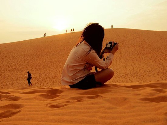 Red Sand Dunes: Warm in redsand.