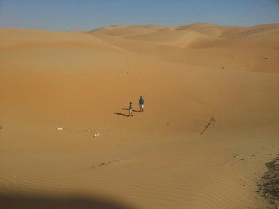 Liwa Hotel: view from dunes top