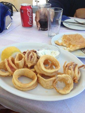 Parea Tavern: My calamari and saganaki