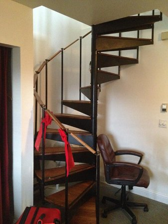 Inn at Creek Street: spiral staircase
